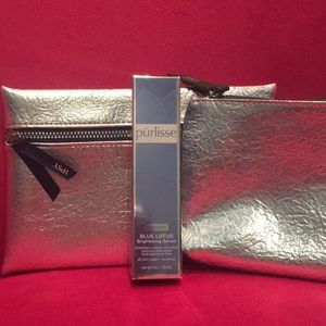 Purlisse Blue Lotus Serum & Silver Bag Dio NWT
